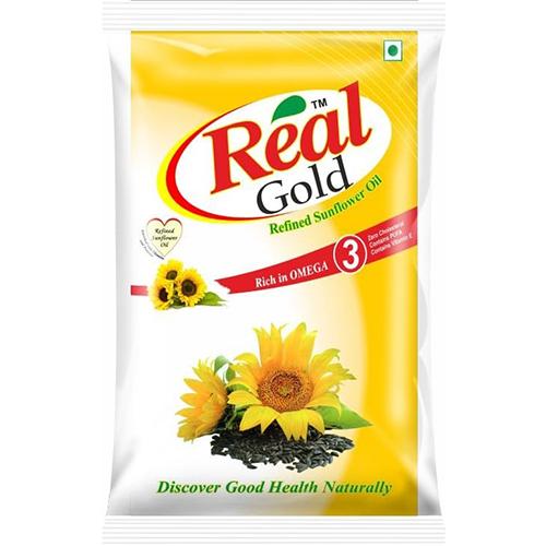 REAL GOLD REFINED SUNFLOWER OIL 1 LITRE
